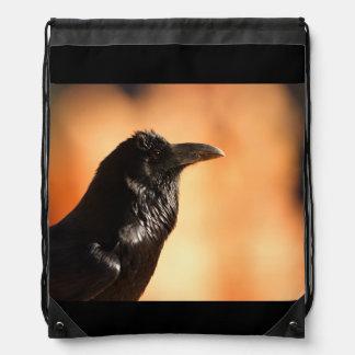 raven drawstring backpack