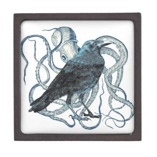 Raven Dreams Of Octopus Premium Keepsake Boxes