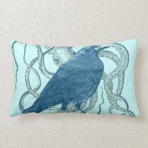 Raven Dreams of the Octopus Lumbar Pillow