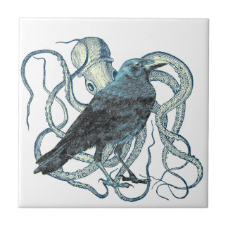 Raven Dreams of the Octopus Tile