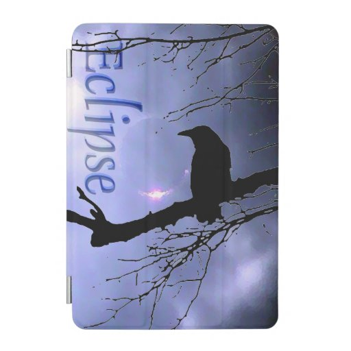 Raven Eclipse in Blue with tree by Aexandra Cook  iPad Mini Cover