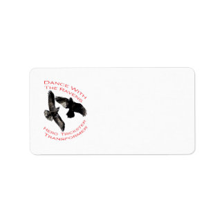 Raven el transformador etiquetas de dirección