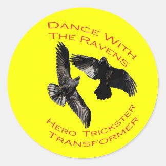 Raven el transformador pegatina redonda