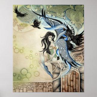 Raven Faery Print