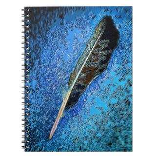 Raven Feather Spiral Notebook