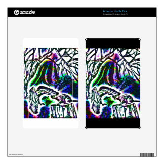 Raven Feeding Rat on a Cold Winter Day Kindle Fire Skins