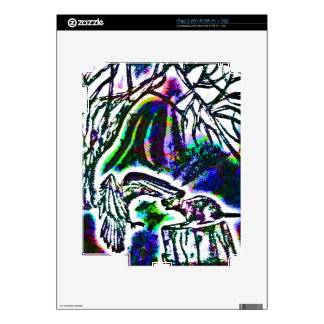 Raven Feeding Rat on a Cold Winter Day Decal For iPad 2