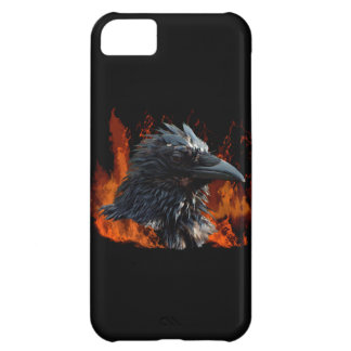 Raven Flames Wiccan Gothic Design iPhone 5C Cases