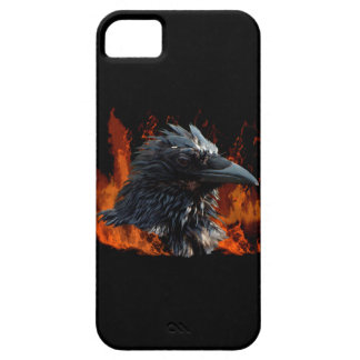 Raven Flames Wiccan Gothic Design iPhone 5 Case