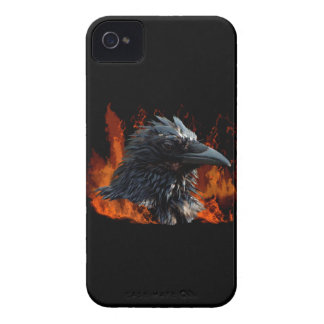 Raven Flames Wiccan Gothic Design iPhone 4 Cover