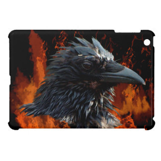 Raven Flames Wiccan Gothic Design Case For The iPad Mini