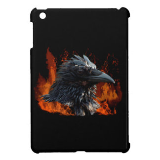 Raven Flames Wiccan Gothic Design Cover For The iPad Mini