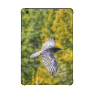 Raven Flying over Forest Spring Art Print iPad Mini Cases