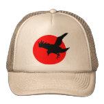 Raven full blood red moon Happy Halloween Trucker Hat