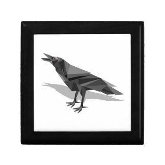 Raven Geometric Cubist Grey Triangles Jewelry Boxes