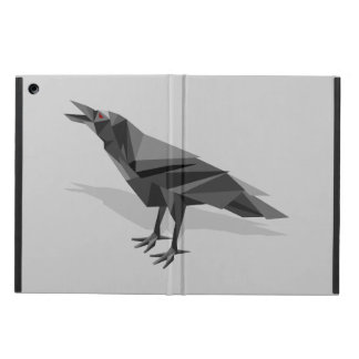 Raven Geometric Cubist Grey Triangles Case For iPad Air