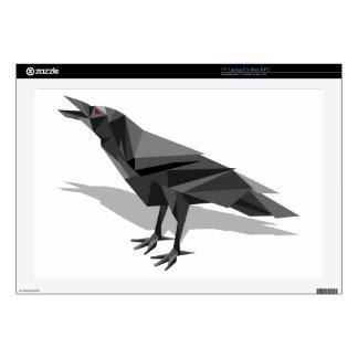 Raven Geometric Cubist Grey Triangles Laptop Decal