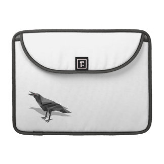 Raven Geometric Cubist Grey Triangles Sleeve For MacBook Pro
