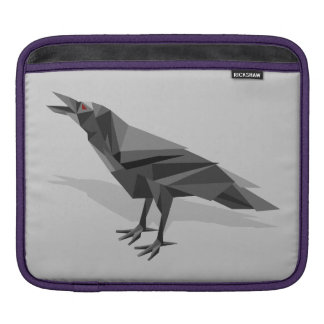 Raven Geometric Cubist Grey Triangles Sleeves For iPads