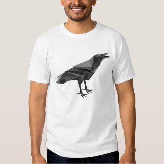 Raven Geometric Cubist Grey Triangles T-Shirt