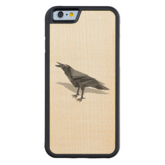 Raven Geometric Cubist Grey Triangles Carved® Maple iPhone 6 Bumper