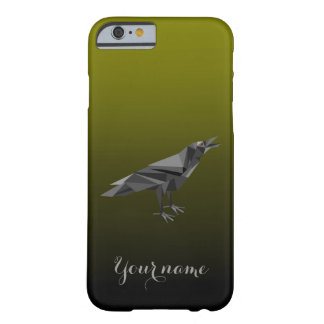 Raven Geometric Grey Triangles Barely There iPhone 6 Case