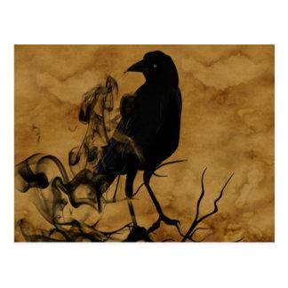 Raven Ghost Postcard