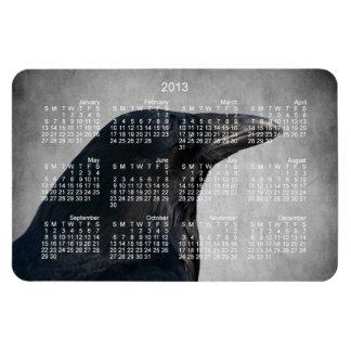 Raven Glamour Shot; 2013 Calendar Magnet