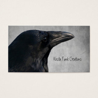 Raven Glamour Shot Business Card