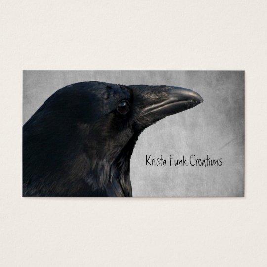 Raven Glamour Shot Business Card