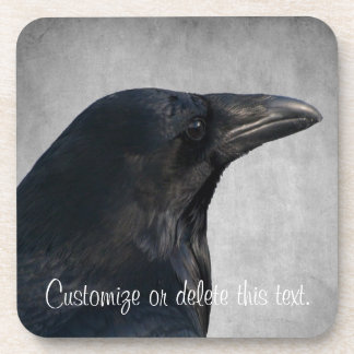 Raven Glamour Shot; Customizable Coaster