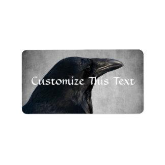 Raven Glamour Shot Personalized Address Labels