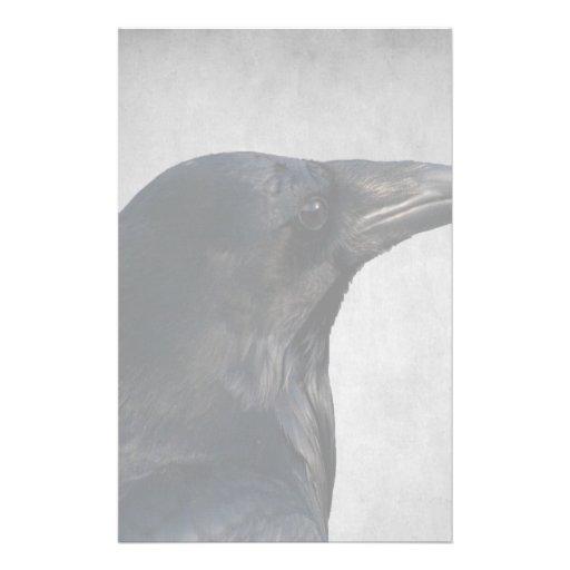 Raven Glamour Shot Stationery Design