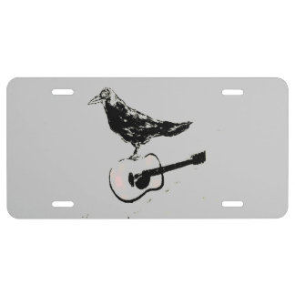 raven guitar song license plate