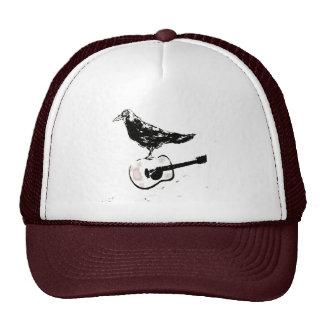 raven guitar song trucker hat