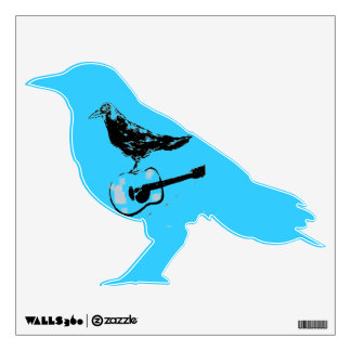 raven guitar song wall decal