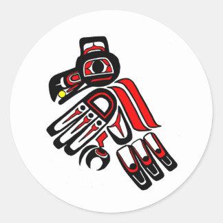 raven haida 2009 classic round sticker
