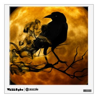 Raven Halloween Wall Decal