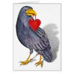 Raven Heart Card