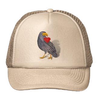 Raven Heart Trucker Hat