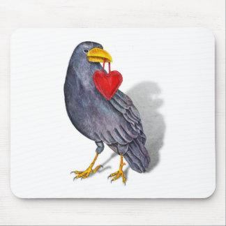Raven Heart Mouse Pad