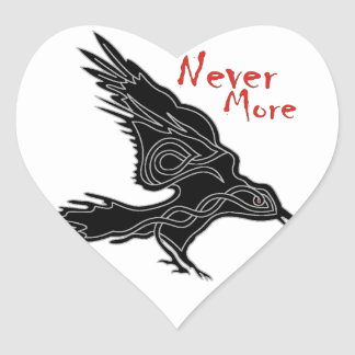 Raven Heart Sticker