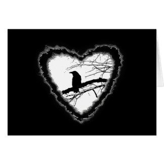 Raven Heart Valentine Romance Love Card