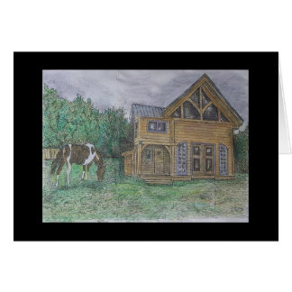 raven house greeting card