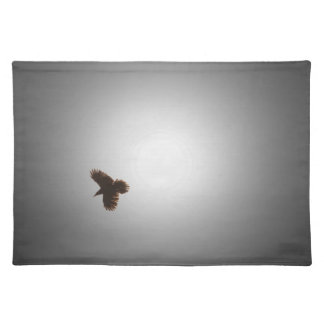 Raven in Flight Cloth Placemat