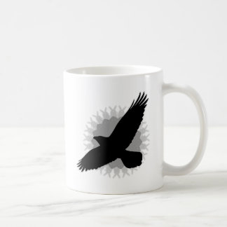 Raven in Flight Coffee Mug