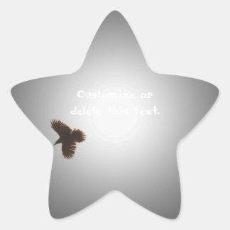 Raven in Flight Star Sticker