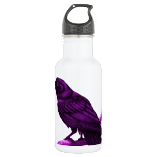 Raven in Purple by Sharles Stainless Steel Water Bottle