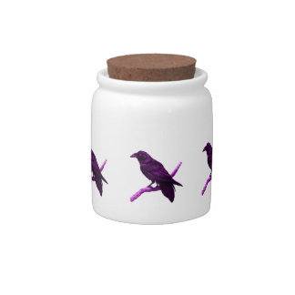 Raven in Purple Gifts by Sharles Candy Jar