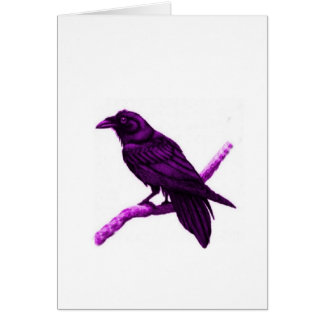 Raven in Purple Gifts by Sharles Card